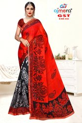 Anmazing Factory Casual Wear Reniyal Printed Saree, 6 m (with blouse piece)