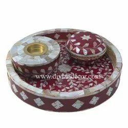 Royal Round Bakhoor Burner Tray Set