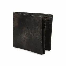 Black Bi Fold Leather Wallets For Men, Card Slots: 8