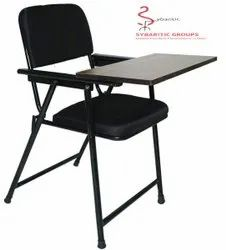 Sybaritic Black Folding Study Chair, For HOME,HOTEL AND EVENT, Back Style: Cushion