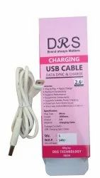White Type C USB Data Cable, 1.5 M