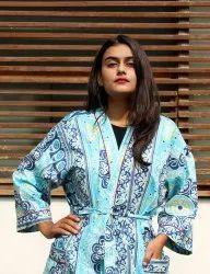 Women cotton  Suzani Printed Kimono