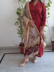 Red Cotton Kurtis