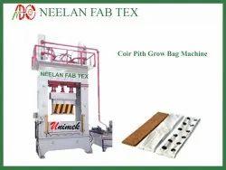 Coir Pith Compacting Grow Bag Making Machine
