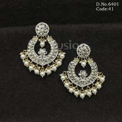 Antique Kundan Chand Bali