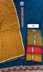 Wedding Wear Designer Embroidery Chanderi Suit With Dupatta