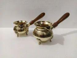 Turkish Brass Coffee Pot set of 2