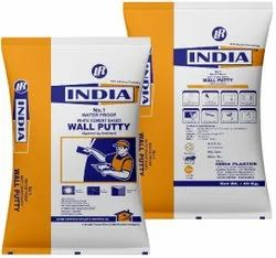 India Plaster White Cement Based Wall Putty, For Interior