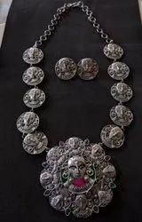 Navratri Occasion Oxidized Necklace Set