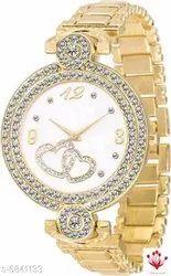 Party Wear Round Ladies Wrist Watch