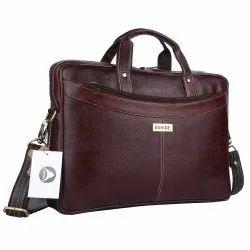Brown Genuine Leather Laptop Bag, Capacity: 20 Kg