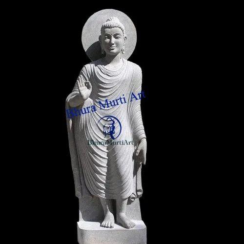 Stone Standing Buddha Statue