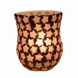 DC35041 Mosaic Glass Tealight Candle Holdar