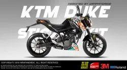 KTM Duke Gymkhana Edition Wrap, Decals, Sticker, Kit