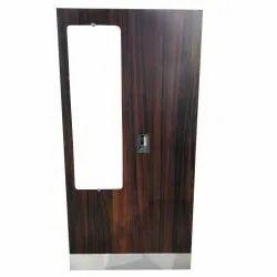 Brown Double Door Almirah With Mirror