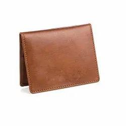 Brown Leather Card Holder Wallet