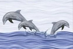 Multicolor Gloss 10x15 Dolphin Wall Tiles, Thickness: 5-10 Mm, Size: 25*37.5 In Cm
