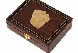 Brown Antique Handicraft Wooden Box, For Home, Size: 8 X 5 Inches