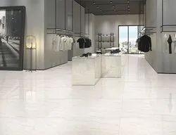 Gloss White Kajaria Eternity Floor Vitrified Tile, Thickness: 12 MM, Size: 800x1200 MM