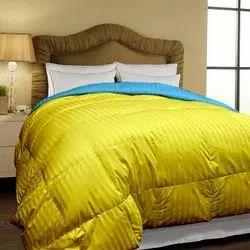 Gold-blue Stripe Bed Comforter