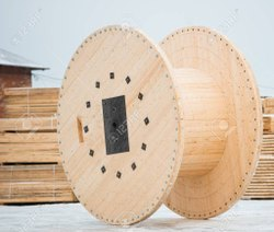 Round Wooden Cable Drum, Max Cable Length: 500 m, Diameter: 40 Inch
