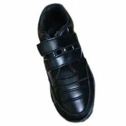 Leather Black Gola School Shoes