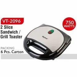 VT2096 Skyline Sandwich Grill Toaster, Voltage: 230 V, Power: 750 W