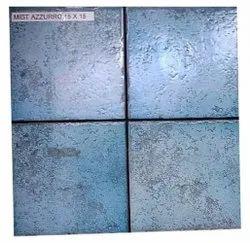 Blue Matt Decorative Azzurro Ceramic Tile, Size: 6 x 6 Inch