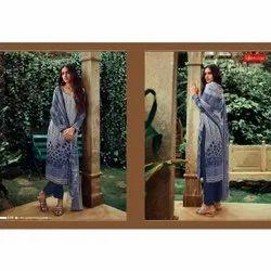 Vishwam Casual Wear Synthetic Crepe Designer Printed Suits