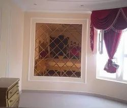 Natural Plain Decorative Wall Glass, For Decoration, Thickness: 10 Mm