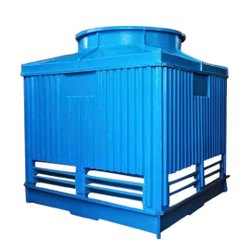 Fiberglass Reinforced Polyester Counter Flow FRP Three Phase Cooling Tower, Forced Draft, Cooling Capacity: 50 Tr