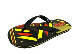 Daily Wear Mens Designer Rubber Slippers, Design/Pattern: Printed, Size: 4-5,6-10