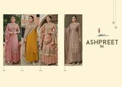 Bridal Wear Mix Stylish Chinon Embroidered Salwar Suit