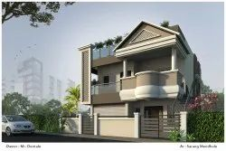Residential Projects Concrete Frame Structures Twin Bungalow Construction Service, In Nagpur