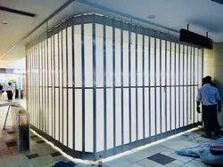 Aluminium Polycarbonate Sliding Door, Interior,Exterior