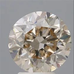 4.02ct Round Brilliant Q To R Range Very Light Brown VS1 GIA Certified Natural Diamond
