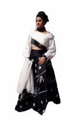 Black And White Party Wear Ladies Designer Lehenga Choli, 2.5 M