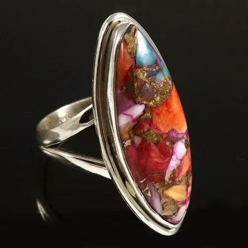 Fantastic Pink Tourmaline Gemstone Ethnic Jewelry 925 Sterling Silver Ring 5 US