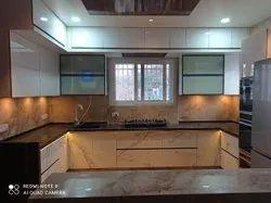 Ply & HDHNR Custom C Type Modular Kitchen