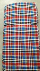 Cotton Polyester Mix Designer Mattress Check Fabric, 150 Gsm