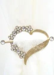 Heart Shape with Stone Metal Tieback