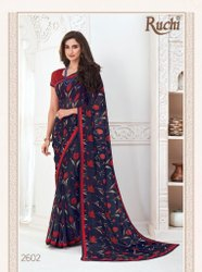 Ruchi Inaayat Series 2601-2612 Pure Georgette Synthetic Saree