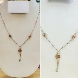 Casual Wear KURA Jewels Fancy Rose Gold Chain
