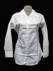 JMB Creations Full Sleeves Ladies White Formal Cotton Shirt, Size: XL
