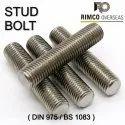 ASTM A193 Grade B8 Studs