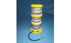 60Hz Yellow High Intensity Aviation Obstruction Light, For Industrial