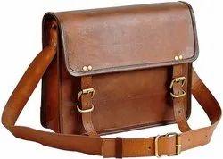 Brown Messenger Bag, Vegan Leather Messenger Bag, Sling Vegan Messenger Bag