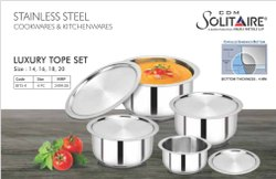Stainless Steel Top Set, For Home, Size: 14 16 18 20