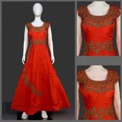Women Party Wear Ladies Silk Gown