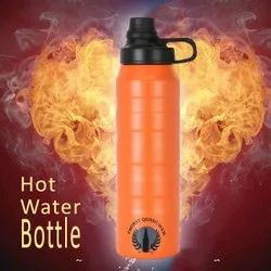 Thirst Quencher Insulated Steel Water Bottle, Model Name/Number: Tq - Orange, Capacity: 900ml